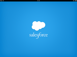 Salesforce Chatter 起動画面