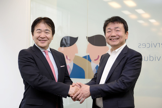 竹中平蔵氏と弊社荻島