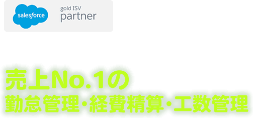 Salesforce AppExchange 売上No.1の勤怠管理・経費精算・工数管理 FY16 AppExchange Partner of the year 受賞!